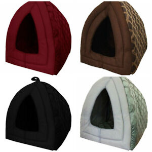 Luxury Small Pet House Igloo Dog Cat Soft Comfy Bed Cats Dogs Beds Houses