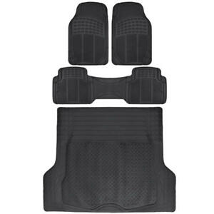 Black Rubber Floor Mats Cargo Liner Set for Car SUV Truck - Ridgeline HD⭐⭐⭐⭐⭐