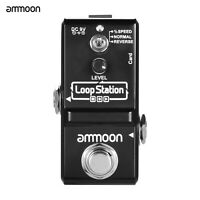 ammoon Loop Station Mini Guitar Looper Effect Pedal 10 Min Recording Time V7S7