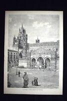 La Cattedrale di Palermo Incisione del 1882