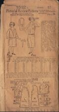 PICTORIAL REVIEW VINTAGE 1907 PATTERN 1512 SIZE 12 GIRL'S 1 PIECE DRESS