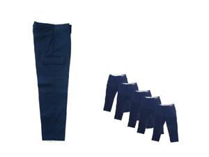 Cargo Work Pants Mens Uniform Used Cintas Unifirst Dickies Navy Black Gray Tan