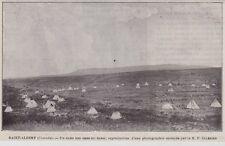 1904  --  CANADA  SAINT ALBERT   UN CAMP DES GENS DU SANG   3K032