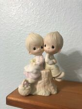 """1976 Signed - Precious Moments Figurine """"Love One Another"""""""