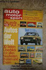AMS Auto Motor Sport 20/71 * Mercedes Benz 350 SL Fiat 130 NSU Ro 80