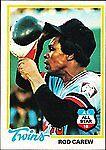 1978 Topps Rod Carew Minnesota Twins #580 Baseball Card