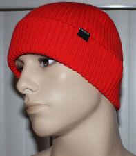 Nixon Men's REGAIN Red Pepper Cuffed Beanie Hat Sz OS **