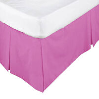 26 Colors - Box Pleated Valance  - SINGLE - King Single - DOUBLE - QUEEN - KING