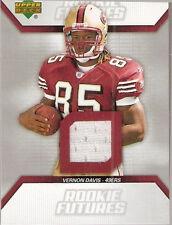 2006 Upper Deck Rookie Futures Jersey Autographs Vernon Davis San Francisco 49e…