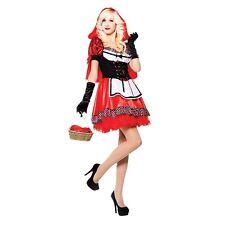 Women's Little Red Riding Hood Costume Donna-TESORO Halloween Fancy Dress