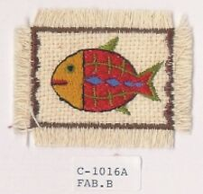 """2.5"""" Tribal Ethnic Fish embroidery patch"""