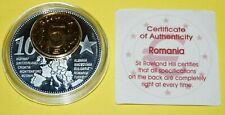 Romania 1 Coin(gilded)+Medal 40mm, 31g, Proof Like + Zertifikat