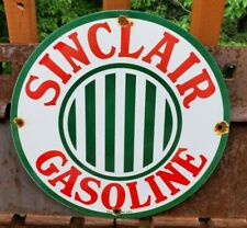Vintage Sinclair Gasoline Porcelain Gas Service Station Pump Plate Oil Ad Sign