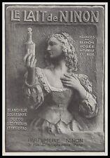 PUBLICITE LE LAIT DE NINON  COSMETIQUE  SOINS VISAGE COSMETIC AD  1926 -1H