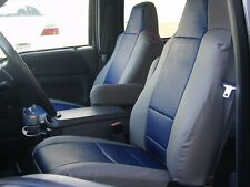 FORD F-350 F-450 F-550 2001-2012 IGGEE S.LEATHER CUSTOM SEAT COVER 13COLORS