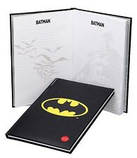 DC Batman Logo Large Notebook with Light Up Cover (19cm x 29cm)