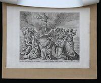 Cornelis Di Visscher (1629-1658) L'Ascensione Cristo Acquaforte Ams Olandese