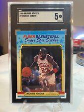 1988-89 Fleer Michael Jordan Sticker #7 SGC 5 EX Chicago Bulls HOF GOAT