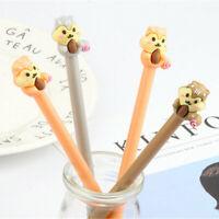 6pcs Cute Cartoon Kawaii Colorful Funny Animal Squirrel Gel Ink Ball Point Pen