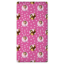 Masha and The Bear SINGLE FITTED BED SHEET 90x200cm 100% COTTON