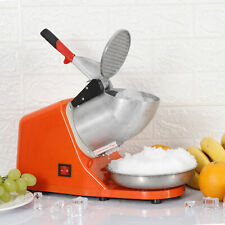 143lbs Electric Ice Crusher Shaver Machine Snow Cone Maker Shaved Ice 300w