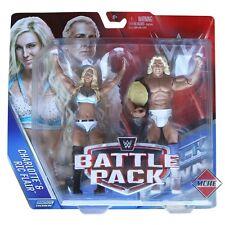 RIC FLAIR & CHARLOTTE WWE MATTEL BATTLE PACK SERIES 41 2 PACK FIGURE - MINT