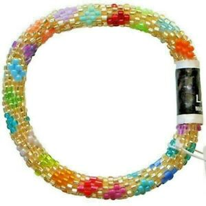 """LILY and LAURA """"Laura"""" Hand Crocheted Beaded Bracelet ~Made in Nepal~"""