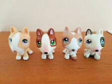 LITTLEST PETSHOP LPS lot de 4 chiens Bull Terrier #860 #1095 #154 et no #  lot7