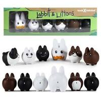 Kidrobot Labbit With Littons 6 Pack Vinyl Figures NEW Toys Collectibles 6 Figs