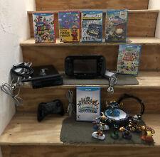 Nintendo Wii U 32GB Black Console System w/ 6 games, Controller & Skylanders