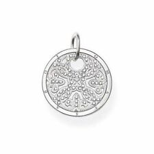 Genuine Thomas Sabo Sterling Silver Arabesque Disc Pendant CZ Small RRP $289