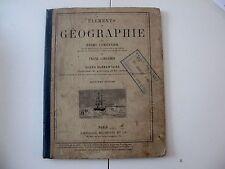 livre ancien éléments géographie Henry Lemonnier Franz Schrader 1884 Hachette