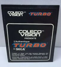 Turbo Colecovision Cartridge Label Original Canadian French NOS