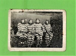 Photography Vintage / Four women dressed as Pierrots, 1920s / Halloween