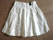 NEW ATMOSPHERE UK WHITE SKIRT WITH TAGS 100% LINEN  UK SIZE 10