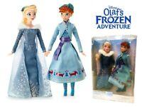 "Disney Olaf's Frozen Adventure Elsa Anna 12"" Doll Kid Action Figure Girl Toy Set"