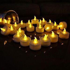72-6pcs LED Flickering Tea Light Bulbs Flameless Fake Candle Xmas Party Decor