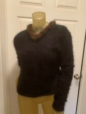 Venesha High Quality 80% Angora Sweater! Fuzzy Furry Fluffy Soft!