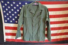 Vintage 1976 Us Army Og 107 Uniform Sateen Utility Field Shirt 14 1/2- 33