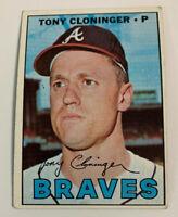 1967 Tony Cloninger # 490 Atlanta Braves Topps Baseball Card
