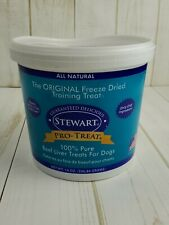 Stewart Pro-Treat 100% Pure Beef Liver for Dogs 14 oz 07/2021 *Dented*