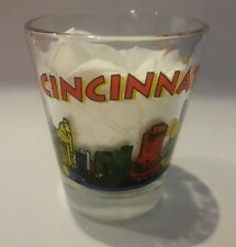 Cincinnati Shot Glass Skyline Buildings Barware Bar Shooter Colorful State