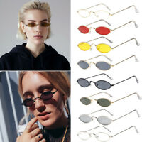 VINTAGE RETRO SMALL OVAL FRAME SUNGLASSES WOMEN'S SHADES TRENDY TINY GLASSES US
