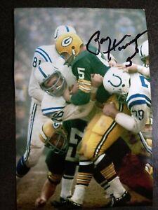 PAUL HORNUNG Hand Signed Autograph 4X6 Photo - NFL HOF GREEN BAY PACKERS