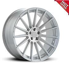 "FITS 4ea 21X10.5 NEW Road Force Wheels RF15 Silver Rims 21"" 21inch (S5)"