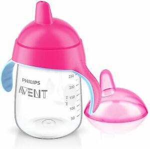 Philips Avent Premium Spout Cup (12 oz, Pink)