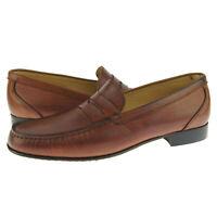 """Alex D """"Lexington"""" Penny Loafer, Men's Dress/Casual Leather Shoes, Cognac"""