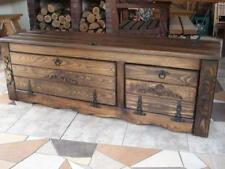 Massive handgemachte Holzkiste Truhe Box Holz Aufbewahrung Antik Dekoration IL2