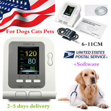 FDA Vet Veterinary LCD digital Blood Pressure Monitor NIBP 6-11cm pet Cuff USA