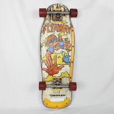 Vintage 1980's Variflex Flyaway Skateboard Yellow Red Multicolor